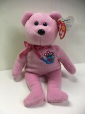"Ty Beanie Baby Mothering Pink Teddy Bear 8"" Beanbag Stuffed Plush w/ Heart Tag"