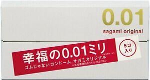 PROMOTION SALE SAGAMI 001 Japanese Original Ultra Thin 0.01mm Condoms (5 pieces)