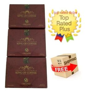 3 Boxes Organo Gold King Of Coffee Ganoderma Lucidum Express Shipping Expiry2023