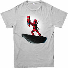 Deadpool T-shirt Spiderman Lion King Spoof Marvel Comics Adult and Kids Sizes Heather Grey 4xl