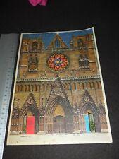 Alter antiker Adventskalender, Glitzerbild, Weihnachtsschmuck, Advent
