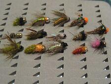 14 ninfas, sin muerte del #12 al #18 Pesca a mosca. FLY FISHING (25)