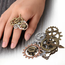 Unisex Gear Components Clock Pointer Steampunk Ring Finger Rings Vintage Jewelry