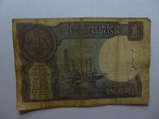 Old India Paper Money Currency - 1989 1 Rupee - Well Circulated