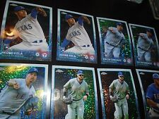 2015 Topps Update Chrome 8 Pulsar Lot Texas Rangers Josh Hamilton + More