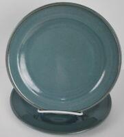 "Pottery Barn Salad Plates 8.75"" Pretty Sage color Glaze Set of Two"