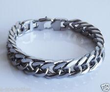 """Stainless Steel Bracelet Motorcycle Biker 6 Men's Heavy Duty 8.75"""" Chain Link"""