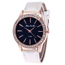 Womens Mens Fashion Crystal Stainless Steel Wristwatch Dress Quartz Watch Analog