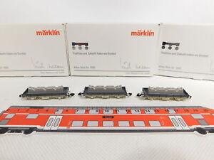 CS256-0,5# 3x Märklin mini-club Spur Z/DC Güterwagen Alles Gute für 1990 TOP+OVP