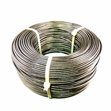 1/8 Stainless Steel Cable 1×19 Strand – T316 Marine Grade – 500′ Feet