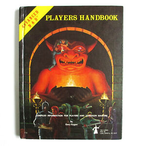 Vintage AD&D PLAYERS HANDBOOK 6th Ed. (1980) by Gary Gygax - Excellent Condition