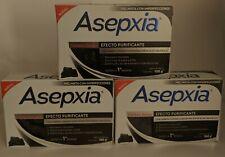 3 PACK! ASEPXIA CARBON DETOX 100g acne fighting soap NEW  Para combatir el acné