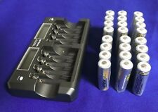 Hitech AA/AAA Smart Charger(8 slots)+ 24pcs AA 2.5A Rechargeable batteries*UL*CE