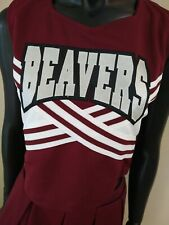 New listing BEAVERS Cheerleader Uniform Outfit Costume Adult XL, L,/M. Authentic Made in USA