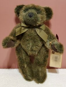 """RETIRED Russ - Vintage Edition, Timperley Bear, 11"""", Green/Brown, Jointed, TA"""