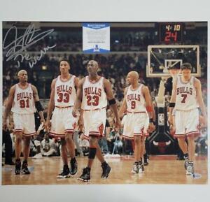 "Dennis Rodman signed ""The Worm"" 16x20 Photo Chicago Bulls ~ Beckett BAS COA"