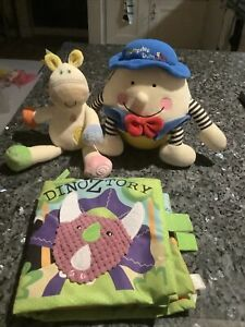 First Toy Bundle,Humpty Dumpty Roly,jingle Horse,rag Book Dinos