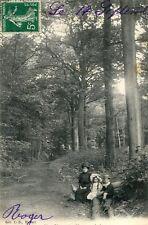 Carte CLAMART Sous Bois Maman ses enfants et le chien en forêt