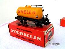 MÄRKLIN HO 1/87 - 3 rails  -  WAGON CITERNE SHELL ref 4502