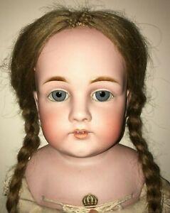 "30"" ANTIQUE Kestner 154 Doll  W/ FAB LABEL, TLC"