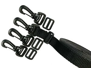"YKK Hardware Kit 3/4"" - Lug Swivel Snap Hook, Tri‑Bar, Webbing Polypropylene"