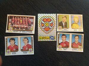 Panini Football 86 Heart of Midlothian - x9 stickers - complete team set