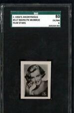 1950s MARILYN MONROE SGC 80 ANONYMOUS FILM STARS # 517 POP 1 HIGHEST