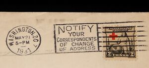 Vintage Cover,UNITED STATES, POSTAL HISTORY, Washington DC, 1931, Red Cross, NYC