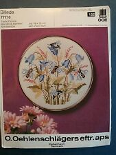 Oehlenschlager - BEES FLOWERS  -  Cross Stitch  Kit with gold frame