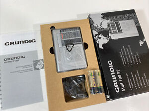 Grundig Mini World 100 PE AM/FM Stereo Short Wave 1-6 Band Radio In Original Box