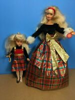 Pre-Owned Barbie Doll 1998 Christmas Holiday Sisters Stacie Red Green Plaid
