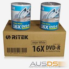 600 X Ritek DVD blank disc media - Printable DVD-R discs matt - 16X burn