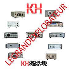 Ultimate Krohn-Hite Repair Service Maintenance & Owner Manuals  90 PDFs manual s