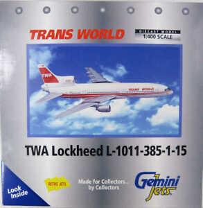 Lockheed L-1011-385-1-15 TWA Trans World N31033 Gemini Jets GJTWA042 1:400