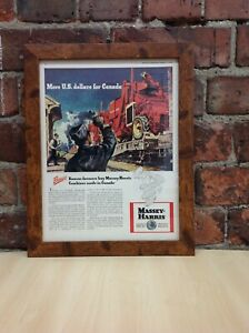 Framed Original Vintage Massey-Harris Ad  from MacLean's Magazine, March 1, 1948