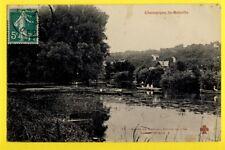 cpa FRANCE 94 - CHAMPIGNY sur MARNE (La Bataille) Pointe de l'ïle Animés Pêcheur