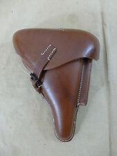 WH/WL fuerza aérea p08 funda de cuero estuche bolsa lederholster Mauser Luger marrón