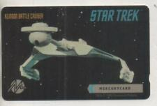 "Star Trek TOS Mercury Phonecard ""Klingon Battle Cruiser"""