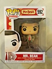 Funko pop Television 592 MR. BEAN w/ Teddy Bear w/ Pop Protector & Free Shipping