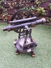 More details for antique theodolite,  troughton & simms  circa 1910s complete with wooden case.