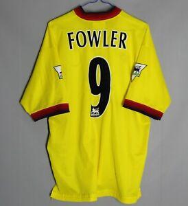 LIVERPOOL ENGLAND 1997/1998/1999 AWAY FOOTBALL SHIRT JERSEY REEBOK #9 FOWLER