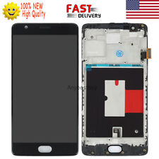 Black For Oneplus 1+ 3 A3000 A3003 LCD Touch Screen Digitizer Frame Replacement