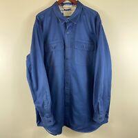 LL Bean Men's XXL Tall Long Sleeve Jacket-Flannel Lined Blue