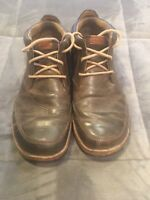 OLUKAI Kamuela Brown Leather Ankle Boots Mens Size 10