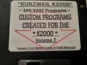 Kurzweil K2000 Assorted Custom Programs vol.7 ~ 100 VAST Programs!!!