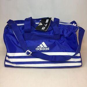 "Adidas Duffle Bag Gym Tote Sports Blue Polygram Video Novelty 20""x11""x11"" Nylon"