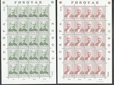 Faroër 53 / 54 in postfrisse vellen van 20 Europa