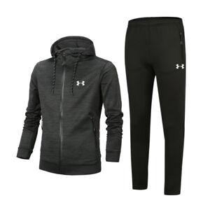 Under Armour Mens Sport Tracksuits Training Gym Running Sweatshirts+Pants Hot