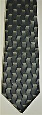 Necktie by Oscar de la Renta Green Blue With Black 100% Silk 8 Pictures