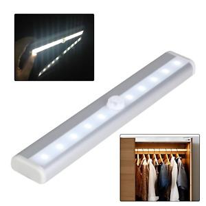 Sans Fil Batterie Alimenté Détecteur de Mouvement Pir Mur Wardrobe 10 Lampe LED